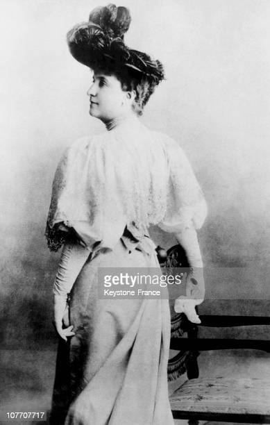 Portrait Of Australian Contralto Nellie Melba The Chef Auguste Escoffier Created A Tribute To The Singer Remained Famous Dessert The Peach Melba