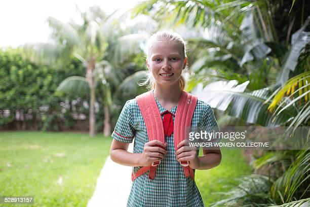 Portrait of Australian school girl in uniform