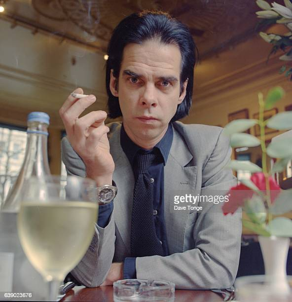Portrait of Australian singersongwriter Nick Cave United Kingdom circa 1995