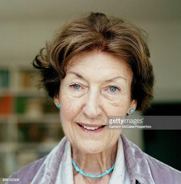 Portrait of AustralianAmerican author Shirley Hazzard at home in Naples Italy circa 2010