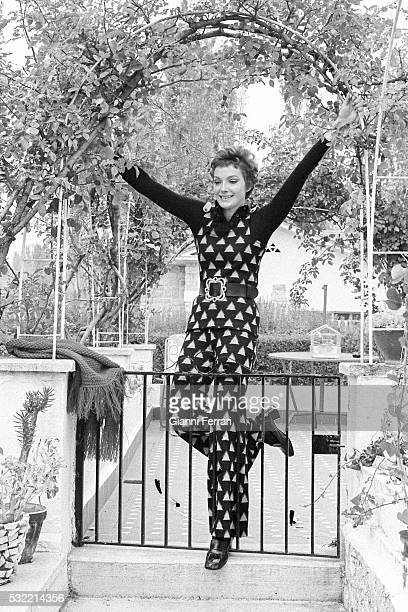 Portrait of Austrian actress Maria Perschy during a photo shoot outside her home in Mirasierra Madrid Spain 1971