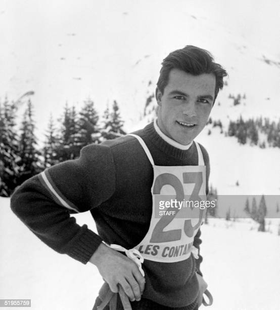 Portrait of Austrian skier Toni Sailer taken in the mid 50's in Les Contamines Toni Sailer won three gold medals at the Winter Olympic Games in...