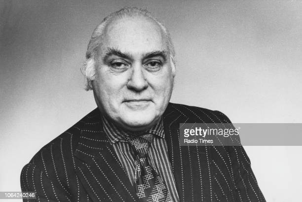 Portrait of author and critic Milton Shulman photographed by Radio Times for his review of the television series 'Washington Behind Closed Doors'...