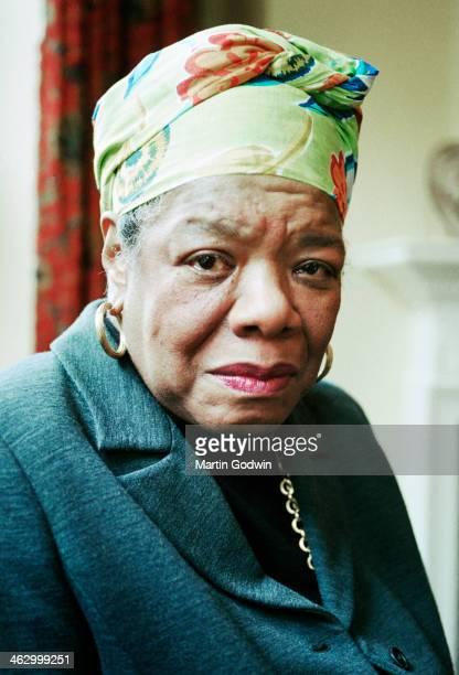 Portrait of author Maya Angelou, London, 4th June 1999