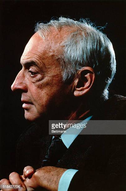 Portrait of author, playwright, and Nobel Prize Winner Saul Bellow. Bellow also received the International Literary Prize in 1965.