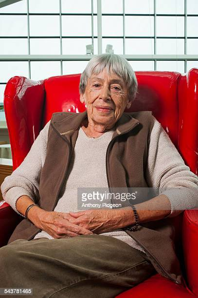 Portrait of author Ursula Le Guin at Wordstock Literary Festival in Portland Oregon USA on 9th October 2011