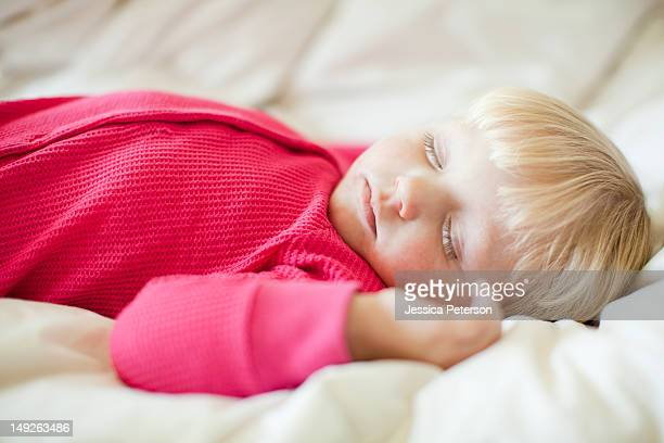 Portrait of baby girl (18-23 months) sleeping