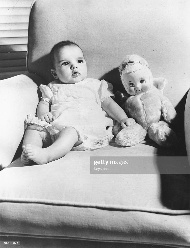 Portrait of baby Liza Minnelli, daughter of actress Judy