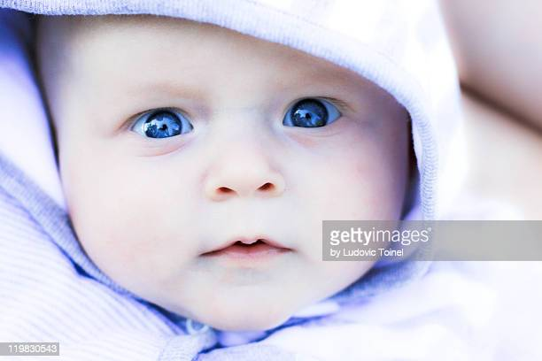 portrait of baby - ludovic toinel stock pictures, royalty-free photos & images
