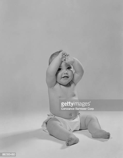 portrait of baby - constance bannister stock photos and pictures