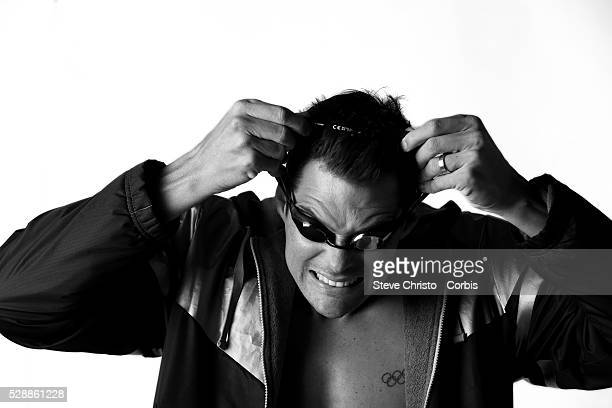Portrait of Backstroker Christian Sprenger at the Brisbane Aquatic Centre Brisbane Australia Sunday 6th April 2014