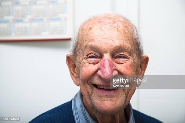 90 Jahre alte senior Männlich Porträt