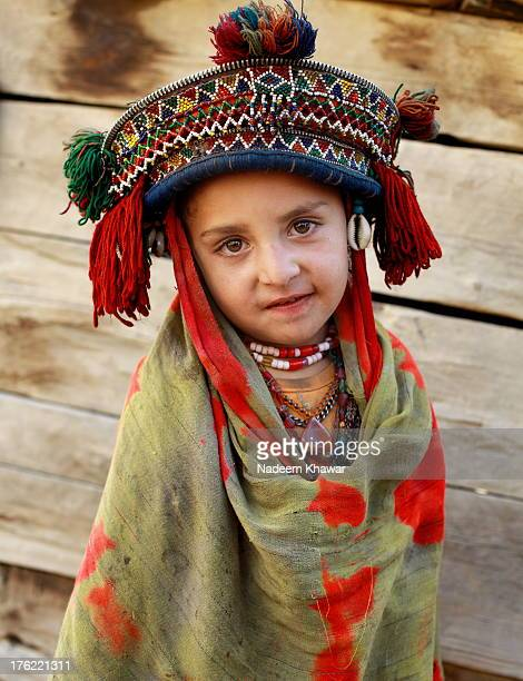 portrait of baltistan girl - skardu stock pictures, royalty-free photos & images