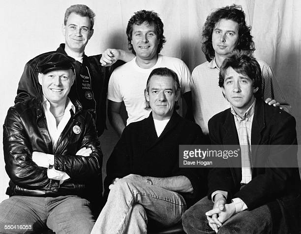 Portrait of band 'The Hollies' Denis Haines Ray Stiles and Alan Coates and Bobby Elliot Allan Clarke and Tony Hicks September 22nd 1988
