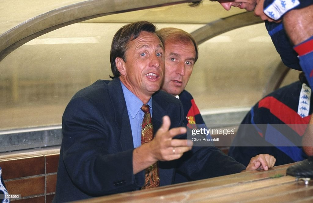 Johan Cruyff of Barcelona : News Photo