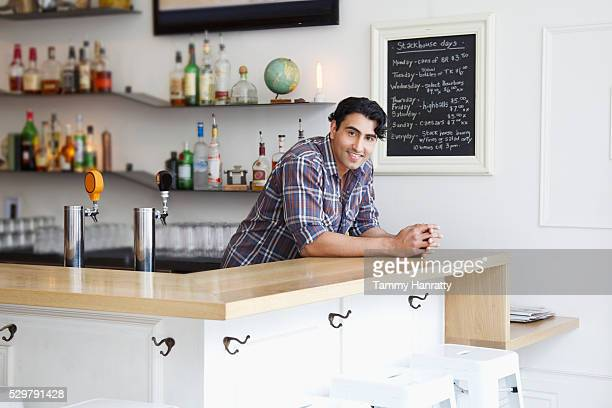 portrait of barman in cafe - tammy bar stock pictures, royalty-free photos & images