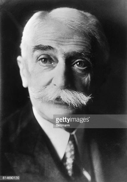 Portrait of Baron Pierre de Coubertin founder of the modern Olympics
