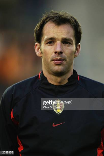 Portrait of Bart Goor of Belgium taken before the International Friendly match between Belgium and Poland held on April 30 2003 at the Stade Roi...