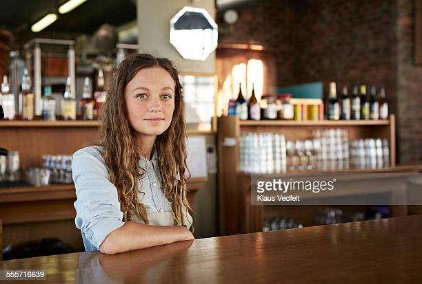 Portrait of bartender at microbrewery