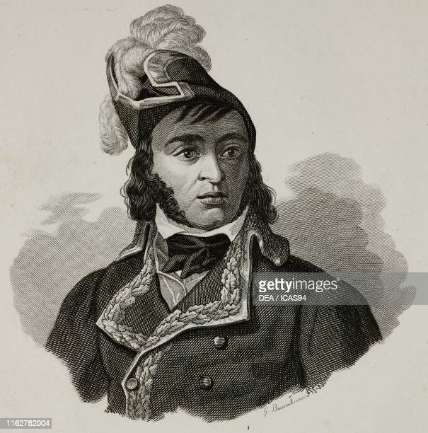 Portrait of Barthelemy Catherine Joubert French general engraving by Buccinalli from Vite dei primarj marescialli e generali che ebbero parte nelle...