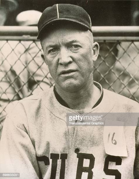 Portrait of baseball player Grover Cleveland Alexander of the Chicago Cubs 1925