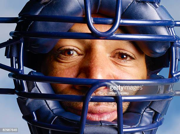 portrait of baseball player - baseball catcher stock pictures, royalty-free photos & images