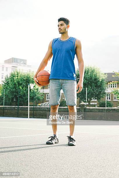 Portrait Of Basketball Player At The Court