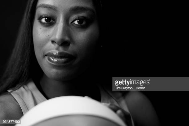 A portrait of basketball player Chiney Ogwumike of the Connecticut Sun at Mohegan Sun Arena on May 2 2018 in Uncasville Connecticut