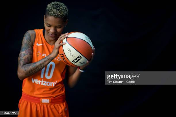 May 2: A portrait of basketball player Courtney Williams of the Connecticut Sun at Mohegan Sun Arena on May 2, 2018 in Uncasville, Connecticut.