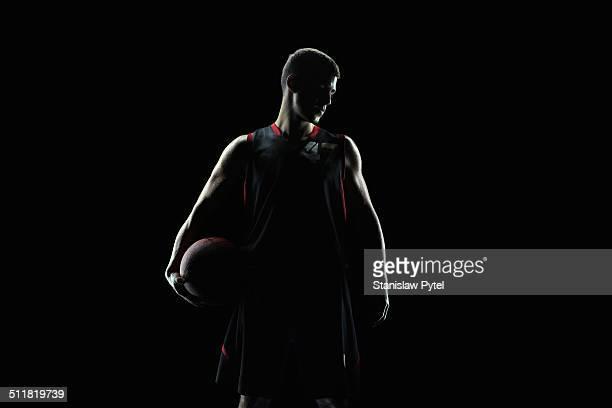 portrait of basketball player, in profile - 選手  ストックフォトと画像