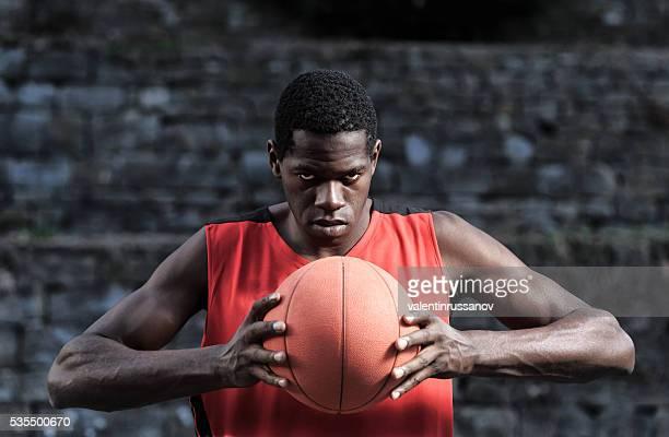 Porträt eines basketball player