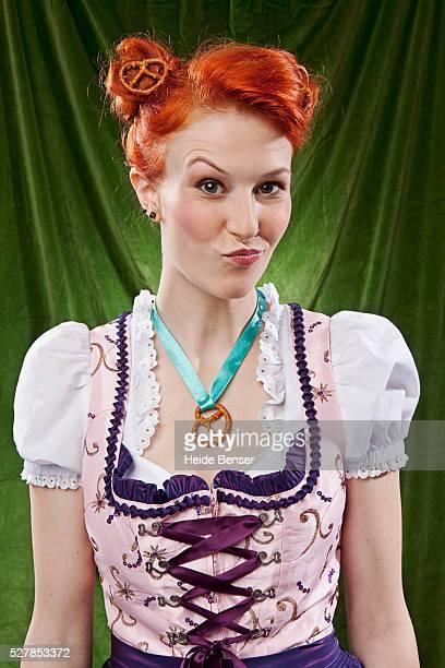 Portrait of Bavarian woman