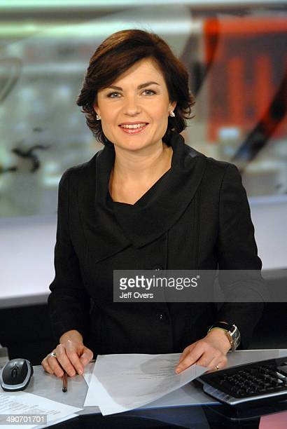 Portrait of BBC News presenter and broadcaster Jane Hill