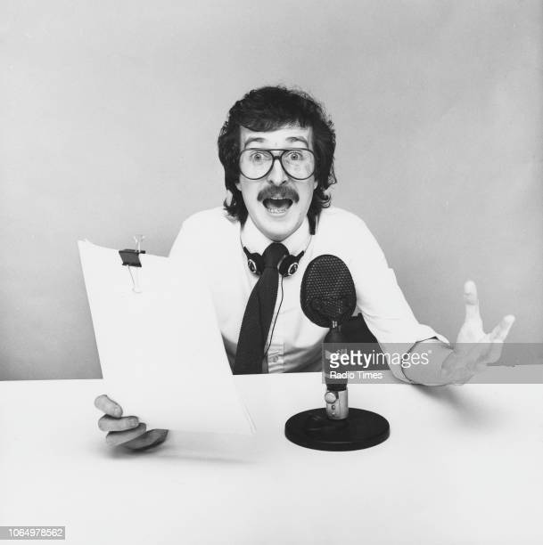 Portrait of BBC Radio 1 disc jockey Steve Wright photographed for Radio Times in connection with his self titled BBC Radio show June 1982