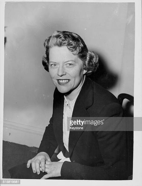 Portrait of BBC Television personality Joan Gilbert London England April 28th 1953