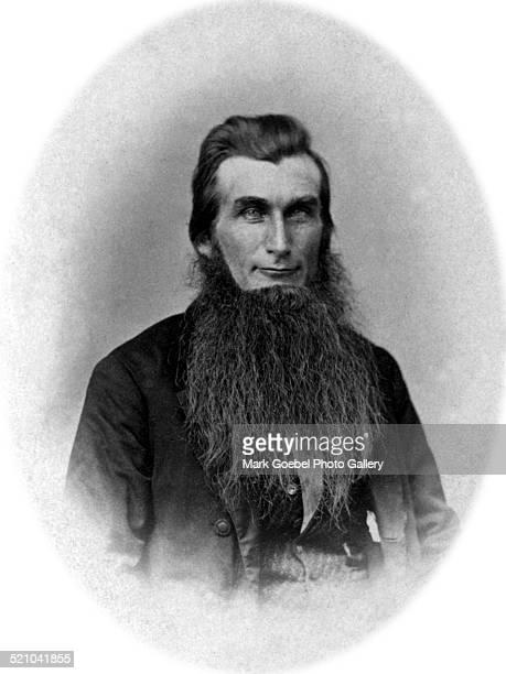 Portrait of bearded man 1860s