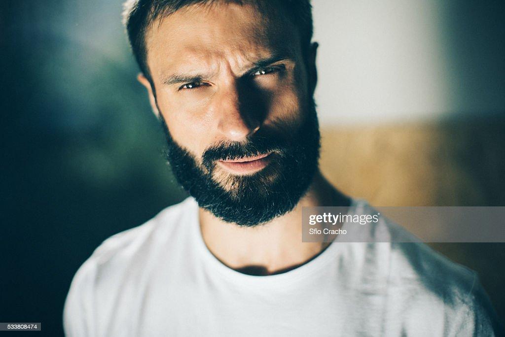 Portrait of bearded man : Foto stock
