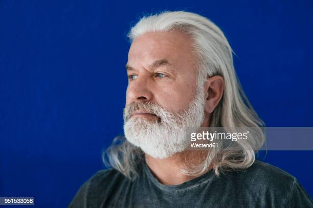 portrait of bearded mature man looking sideways - beard stock pictures, royalty-free photos & images