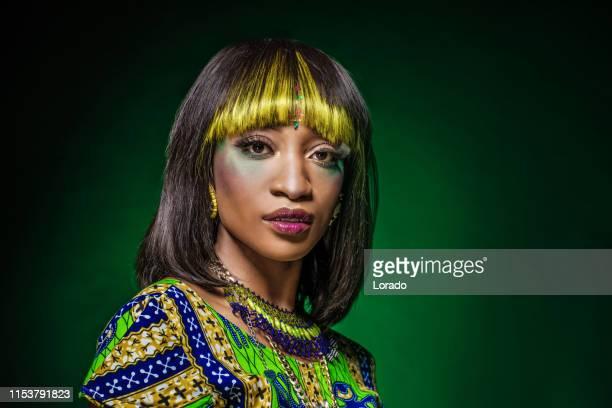 retrato da mulher africana bonita - coleção de moda - fotografias e filmes do acervo