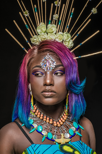 Portrait of beautiful African Woman 1164069990