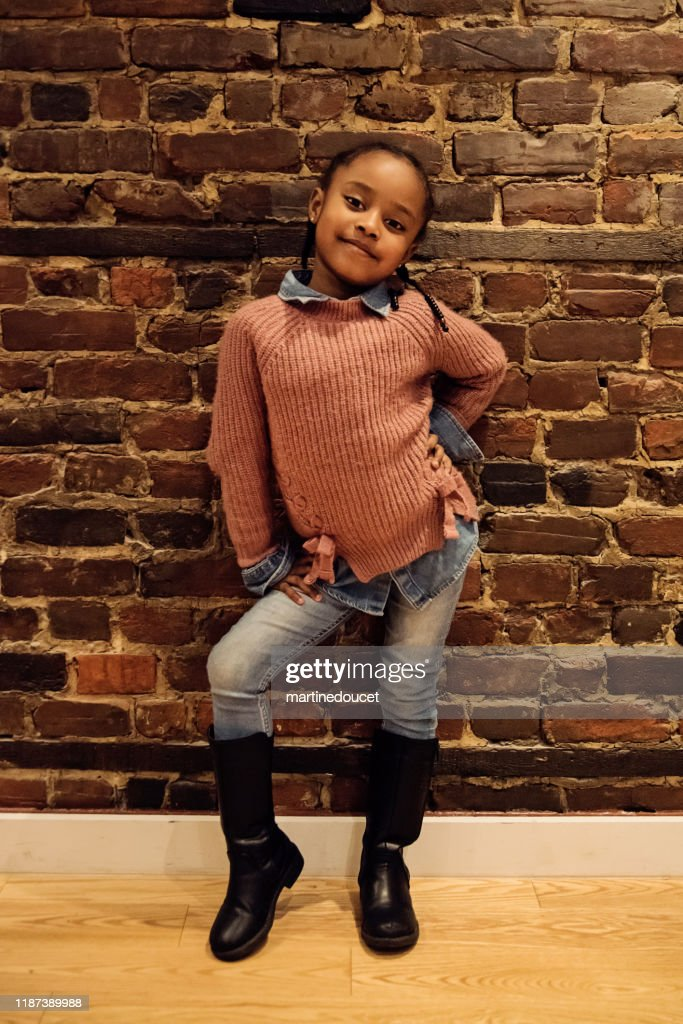 Portrait of beautiful African-American little girl. : Stock Photo