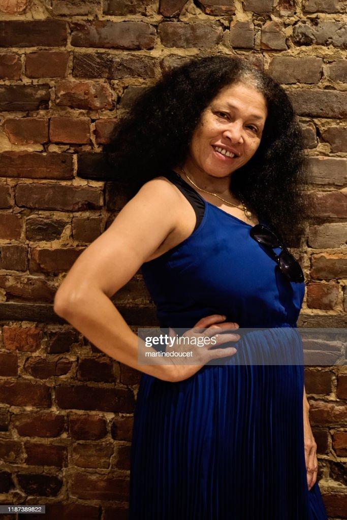 Portrait of beautiful African-American senior woman. : Stock Photo