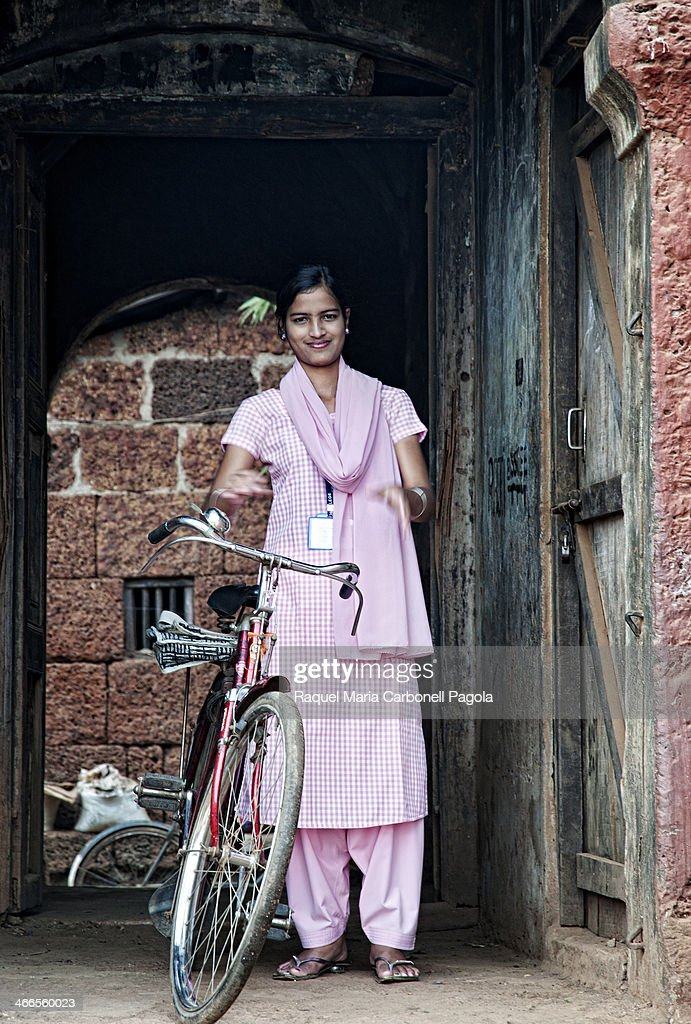 Portrait Of Beautiful And Smiling Indian Young Girl With Bicycle News Photo  Getty -6422