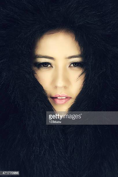 portrait of beautiful asian woman - inuit stock pictures, royalty-free photos & images