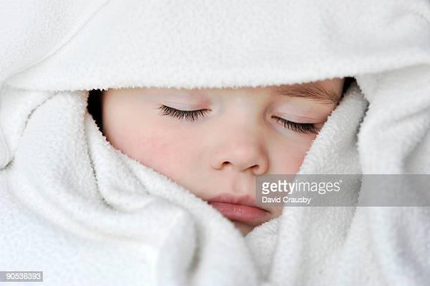 portrait of beautiful baby girl sleeping - crausby stock pictures, royalty-free photos & images