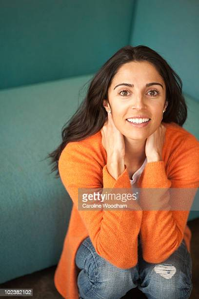 portrait of beautiful ethnic young woman. - ketchum idaho stock photos and pictures