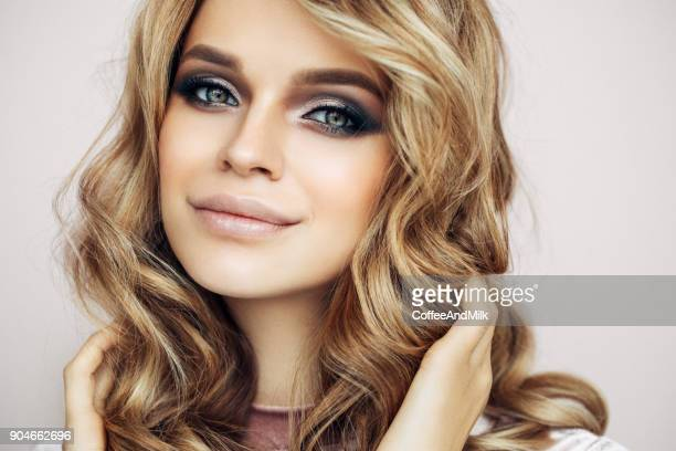 Portrait of beautiful female model