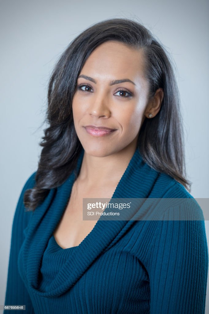 Portrait Of Beautiful Mixed Race Woman High Res Stock Photo Getty Images