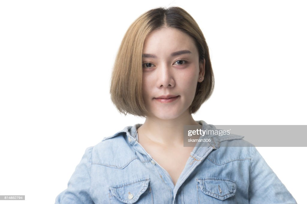 Portrait of beautiful student  Asian girl with isolated : Stock Photo