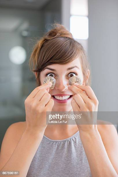 Guy teebags sexy naked women Tea Bags On Eyes Photos And Premium High Res Pictures Getty Images